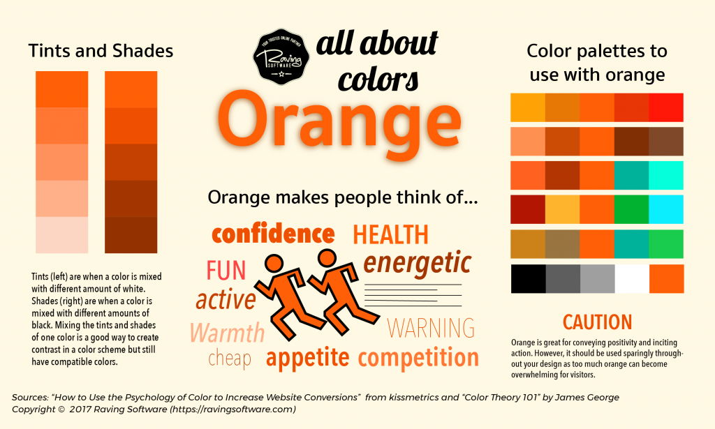 How to use orange in your web design