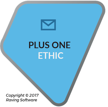 The Plus One Ethic is one of the 8 components of Raving Software's philosophy.
