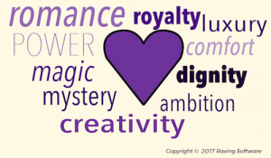 Different meanings of the color purple
