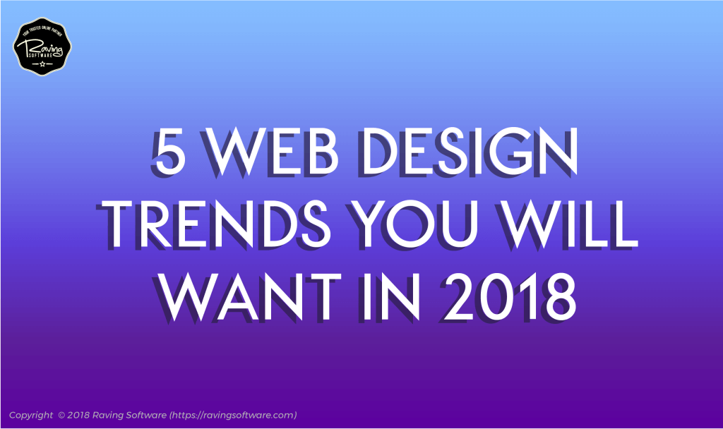 5 design trends for 2018