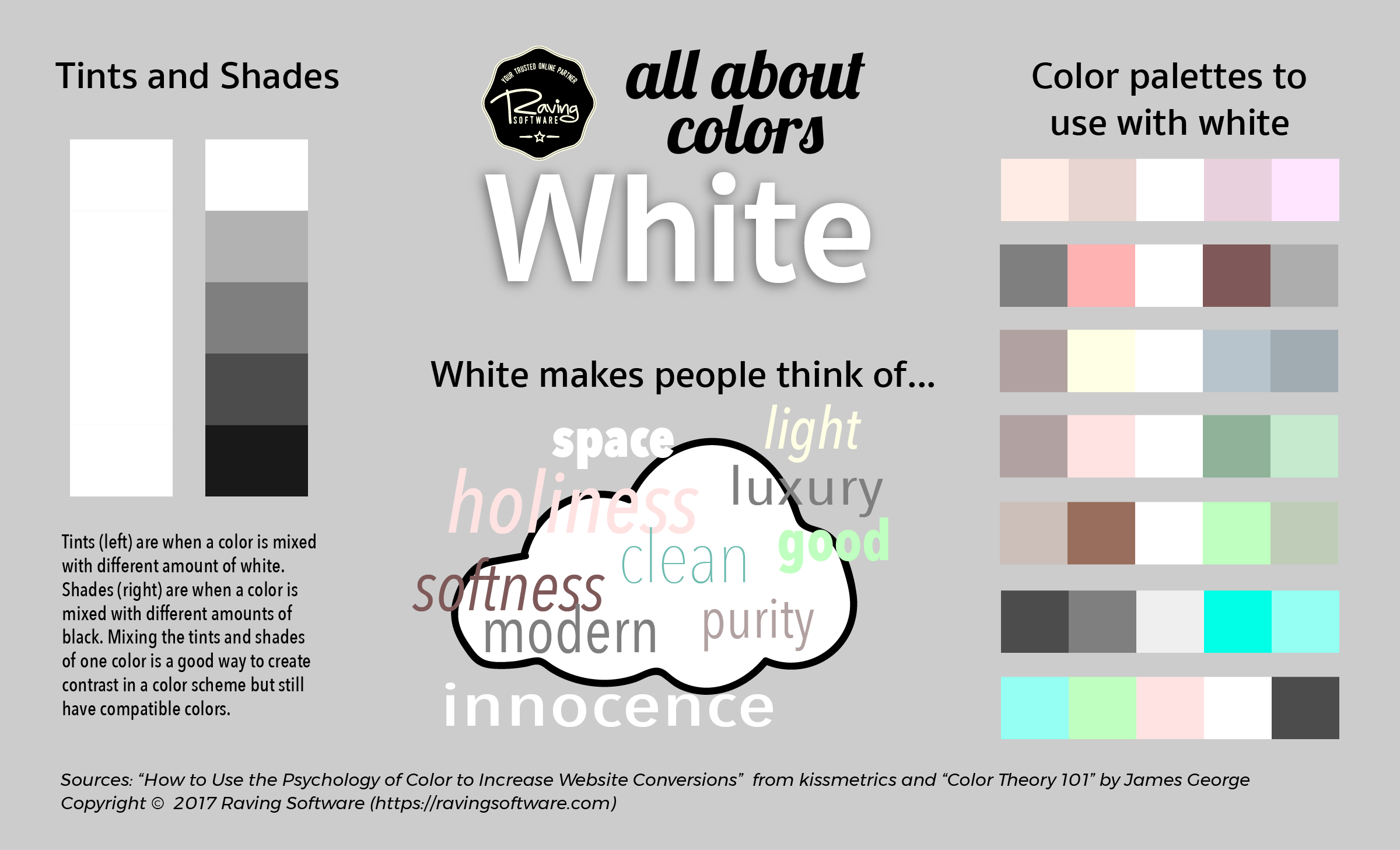 Ways to use white in your web design