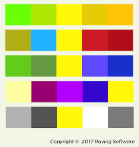 Different color palettes that feature yellow