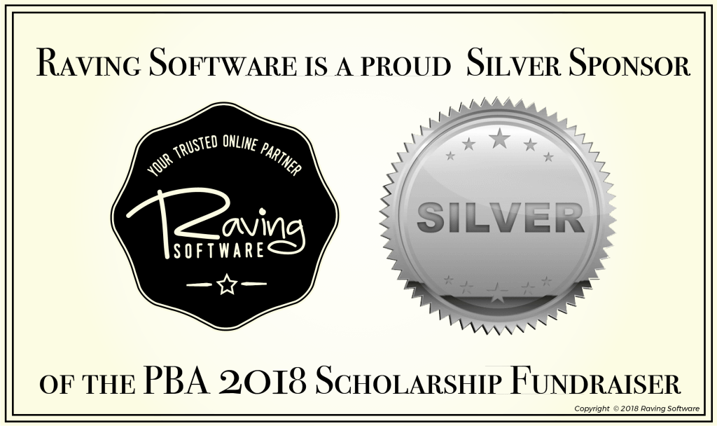 Raving Software is a Silver Sponsor for the Pasadena Business Association 2018 Scholarship Fundraiser