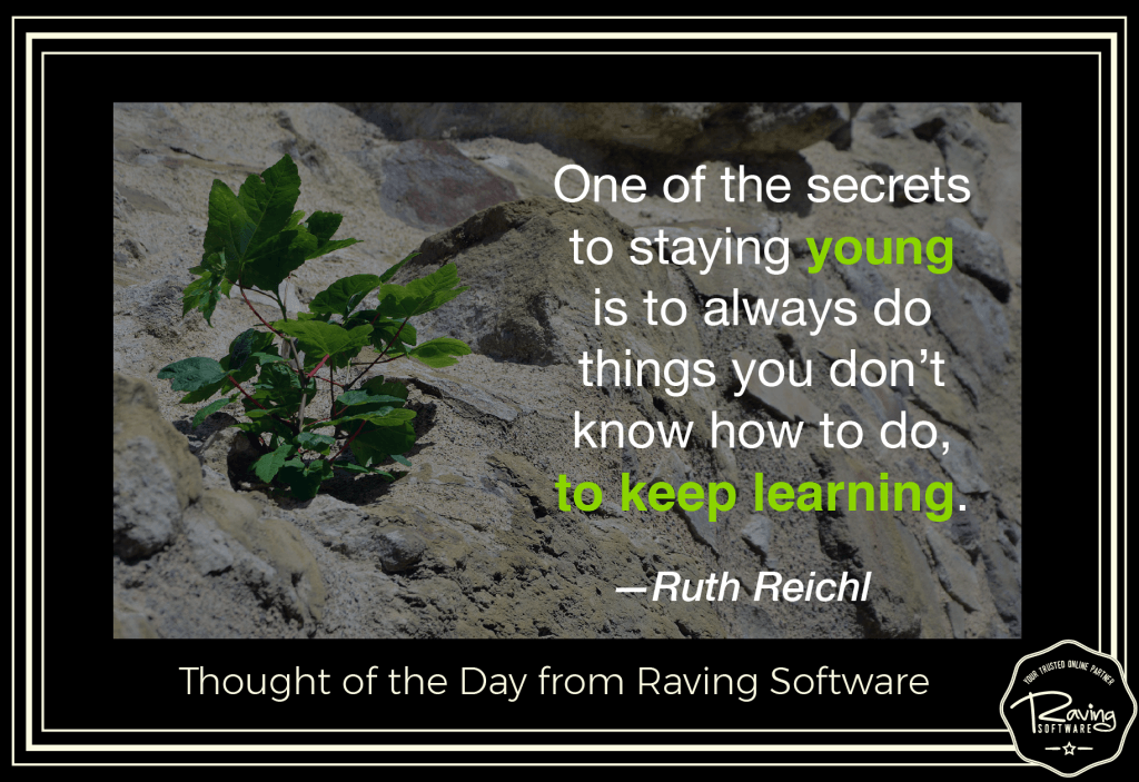 Thought of the Day from Raving Software
