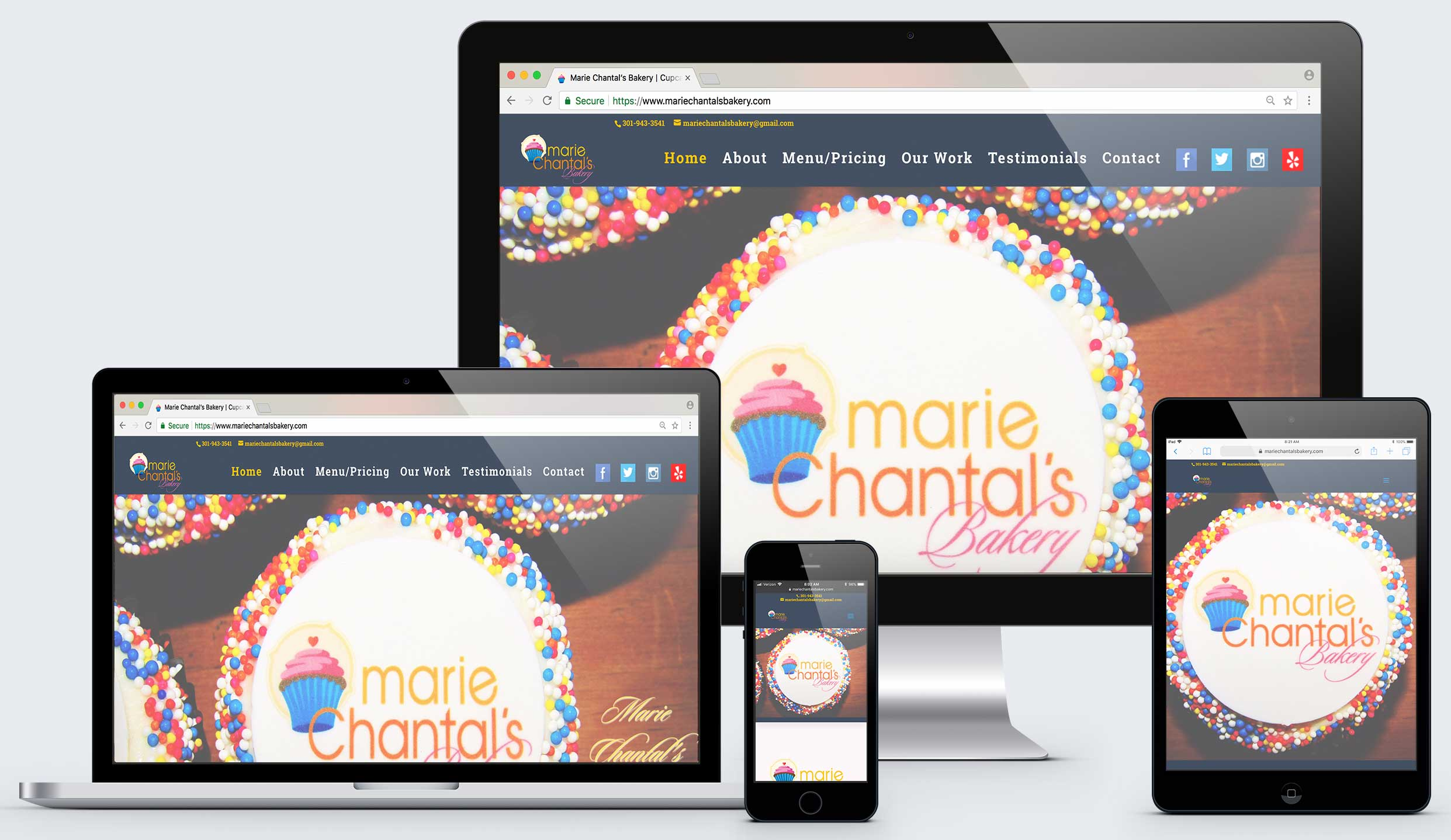 Responsive Design Example from our Raving Software Portfolio