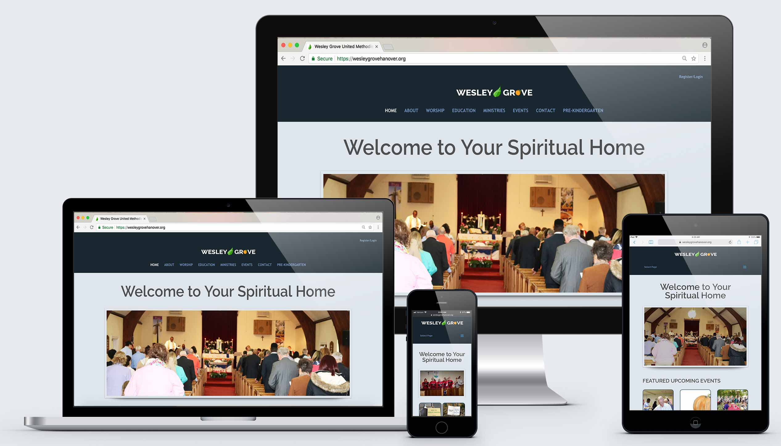 Wesley Grove UMC website by Raving Software
