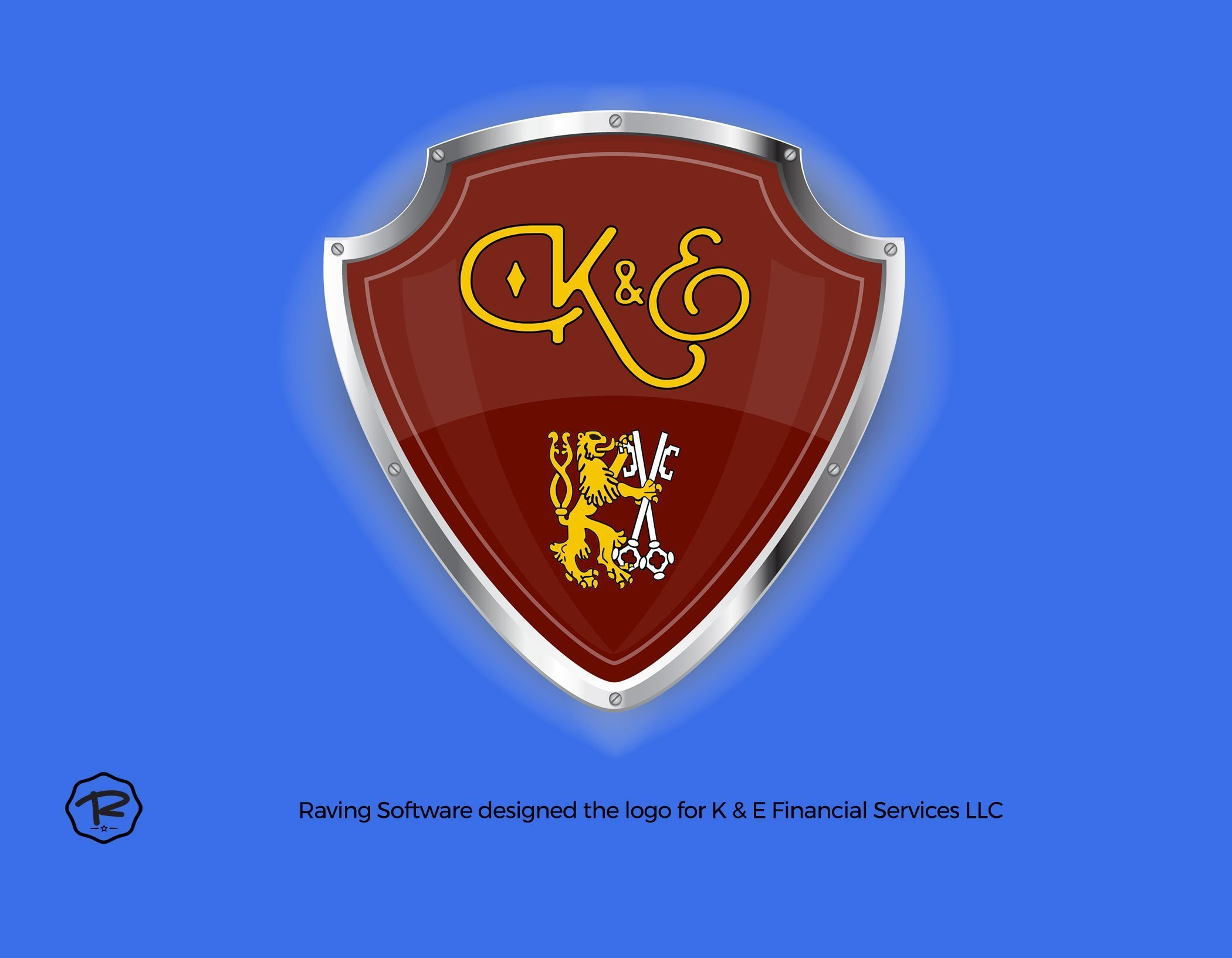 K&E Financial Services logo design by Raving Software