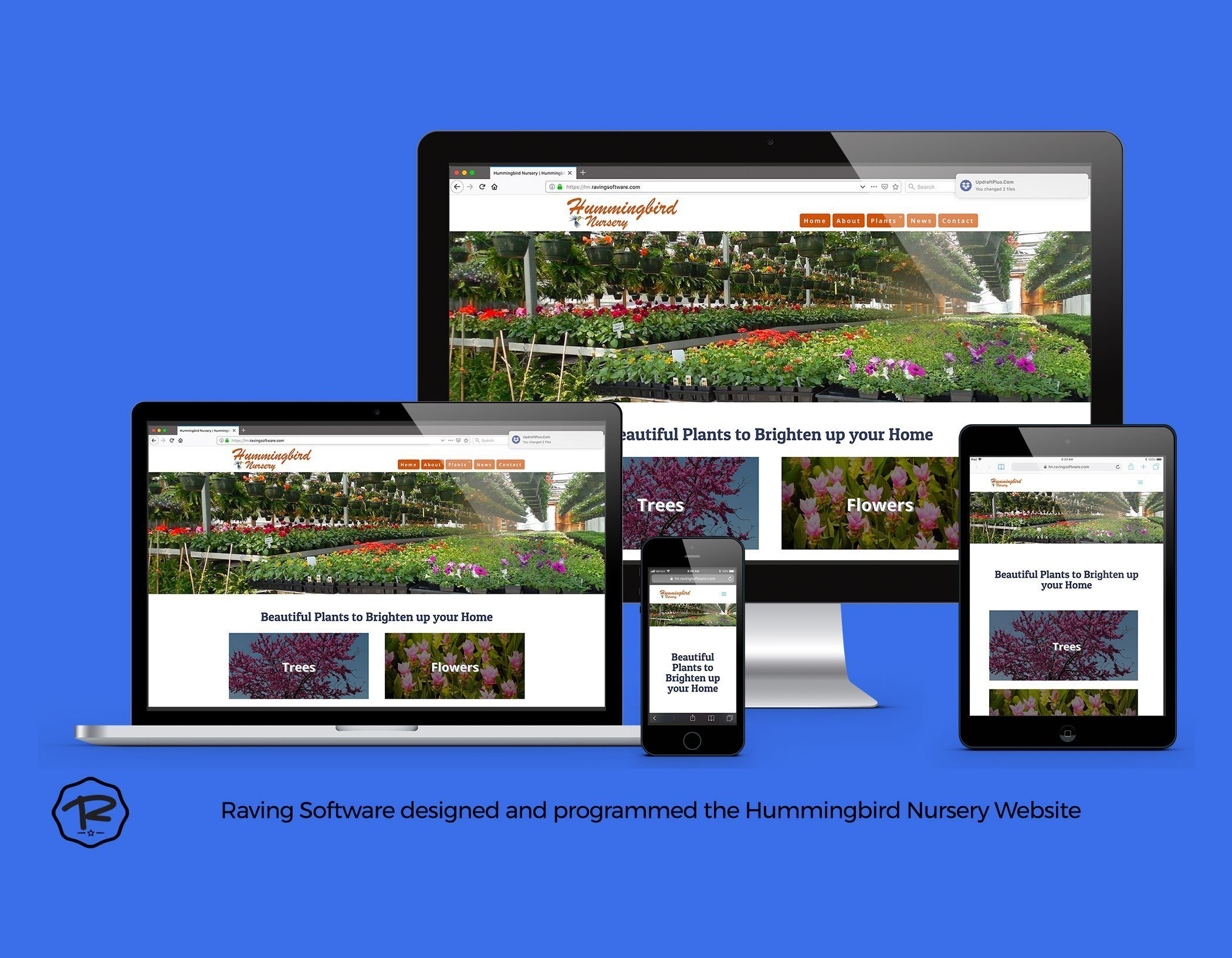 The Hummingbird Nursery website created by Raving Software