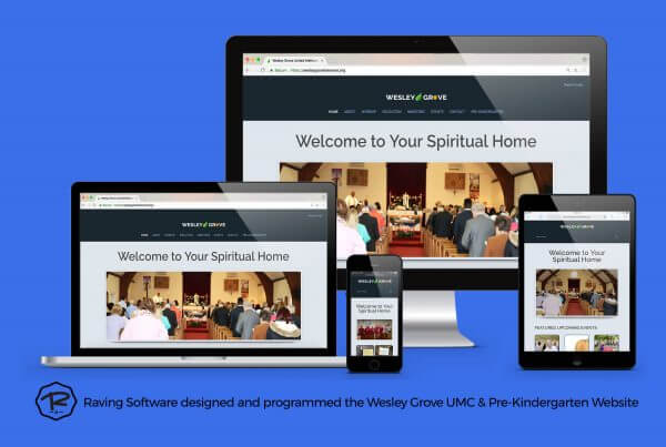 Wesley Grove UMC and Pre-Kindergarten website created by Raving Software