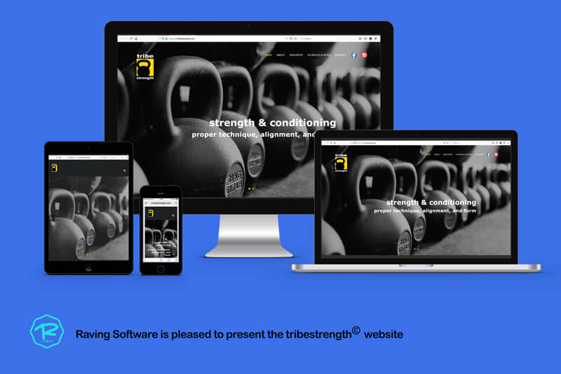 The tribestrength website was designed and implemented by Raving Software