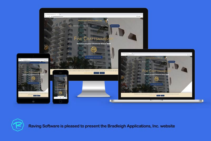 The Bradleigh Applications, Inc. website was designed and implemented by Raving Software